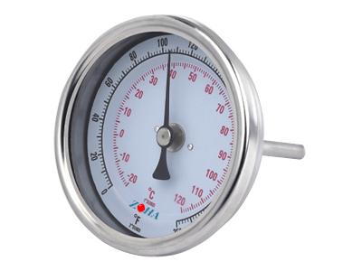 轴向可调零双金属温度计