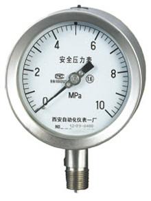 安全型(充油型)全不锈钢压力表YQH(N)A-107