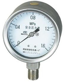 YTQN-100耐震全不锈钢安全压力表
