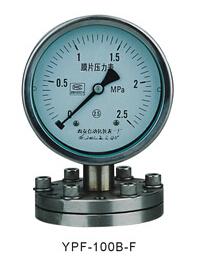 YPF-100B-F法兰不锈钢膜片压力表