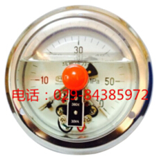 轴向耐震电接点压力表YTNXC-100Z