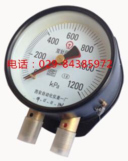西安自动化仪表一厂双针压力表YZS-102