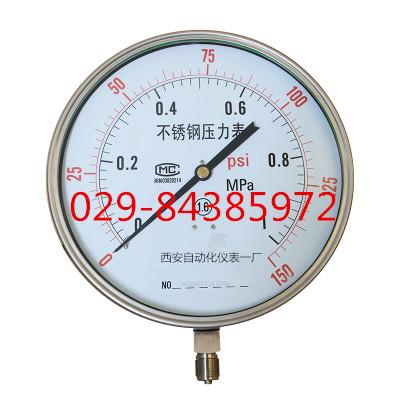 Y-200BF 不锈钢压力表 不锈钢耐震压力表YTN-200BF
